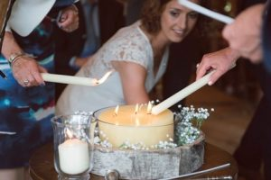 Lighting a candle brings added resonance to your special occasion