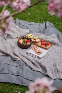 A Valentines day Picnic on natural rugs