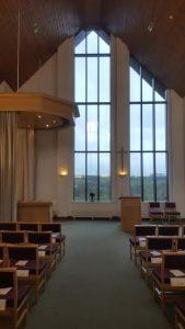 Llanelli Crematorium empty of people