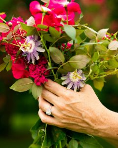A bridal Bouquet with Myrtle and native flowers