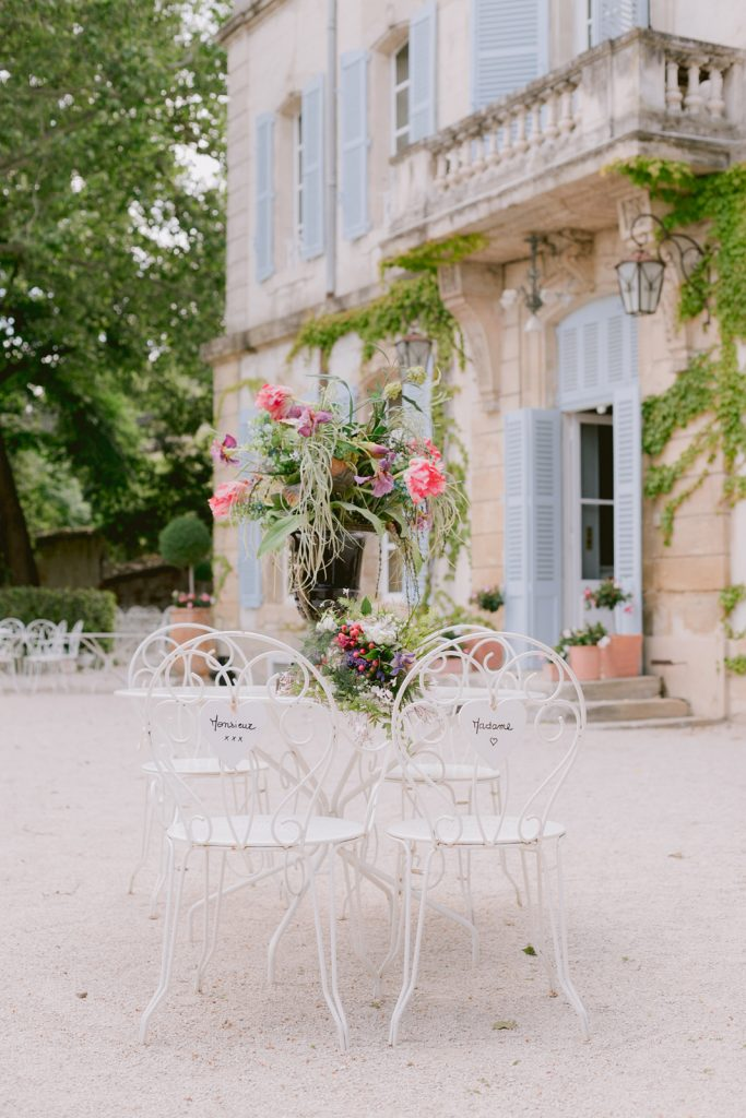 Outdoor French wedding venue